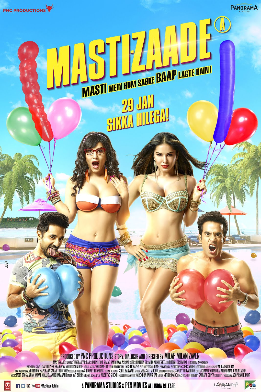 Mastizaade (2016) Hindi 350MB WEB-HDRip 480p