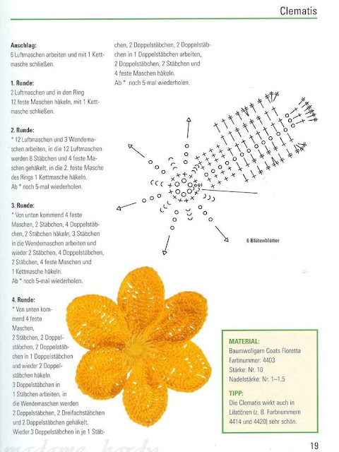 Flores em croche passo-a-passo