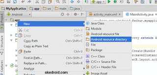 buat folder assets Android Studio