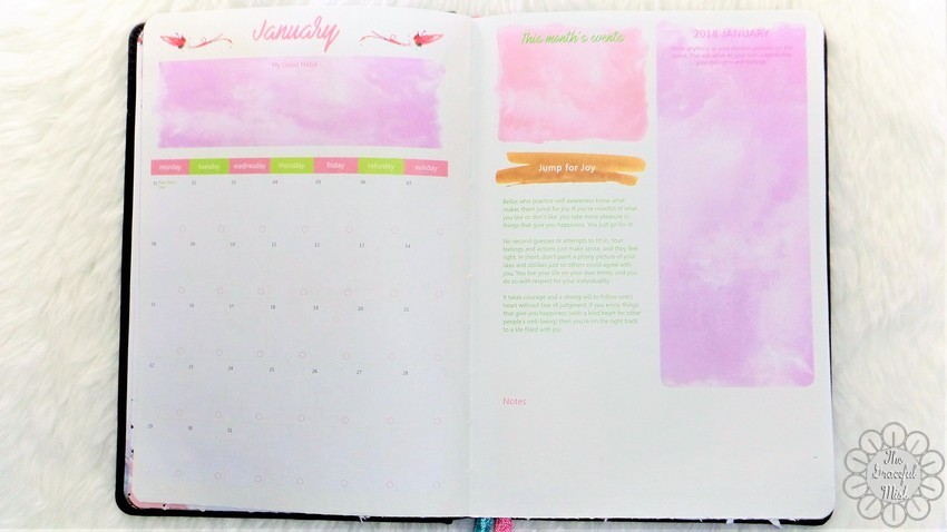 A Close-up Look inside a Filipino Lady`s Planner: 2018 Belle De Jour Power Planner | First Impressions and Reviews | Monthly Planner Pages | by +The Graceful Mist (www.TheGracefulMist.com) Top Beauty, Books, Health, Fashion, Life, Lifestyle, Style, and Travel Blog/Website - by Filipino/Filipina/Pinay - Blogger/Freelance Writer in Quezon City, Metro Manila, Philippines