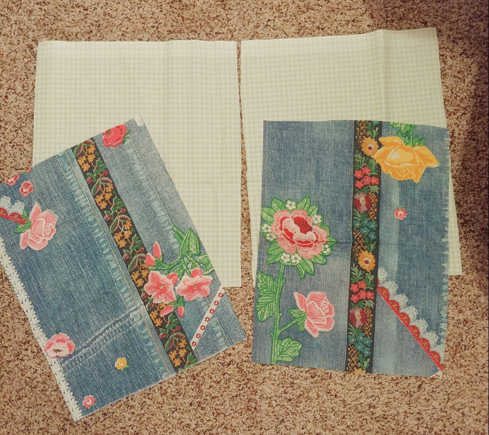 cut your fabric into rectangles