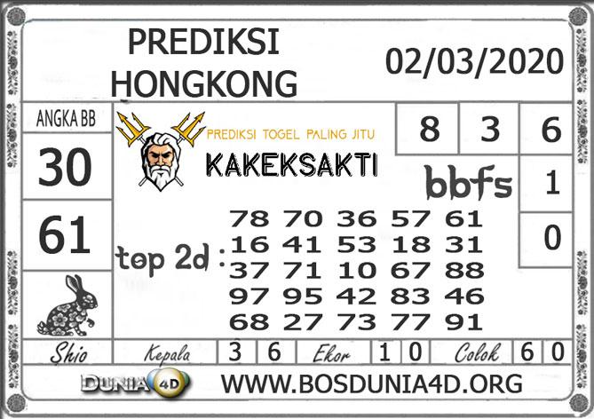 Prediksi Togel HONGKONG DUNIA4D 02 MARET 2020