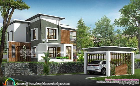 Modern 3 bedroom hill side house with separate car porch