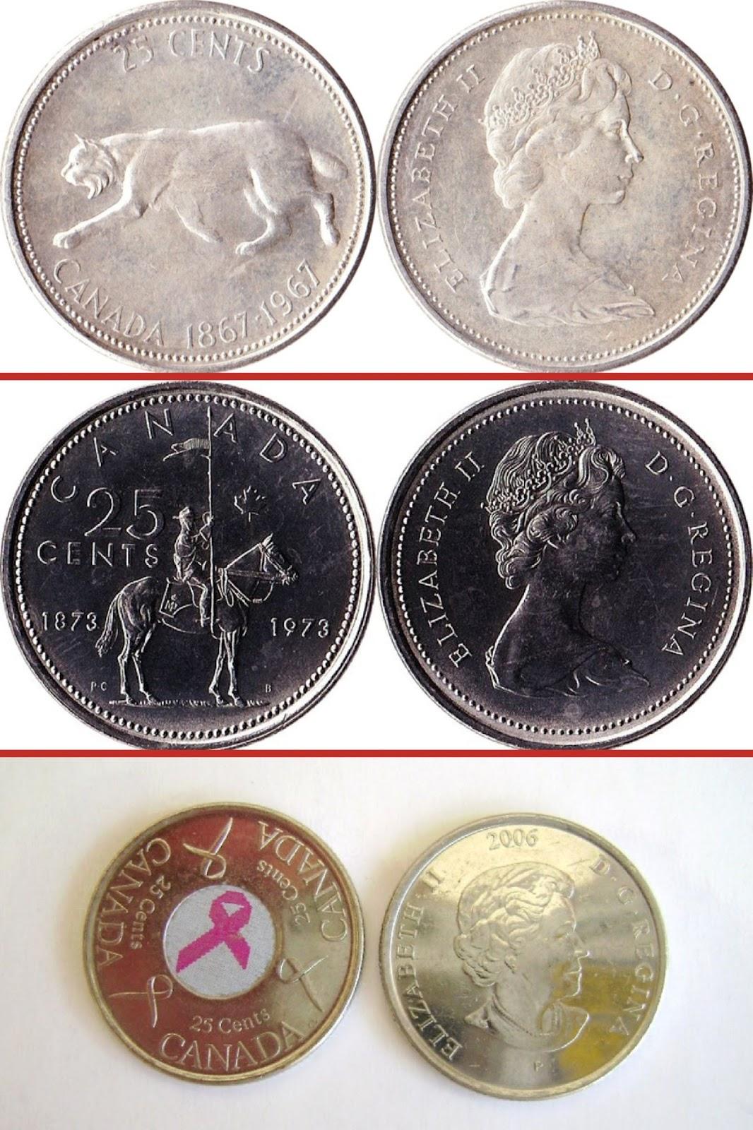 Canadian 25 Cent Quarter Coin