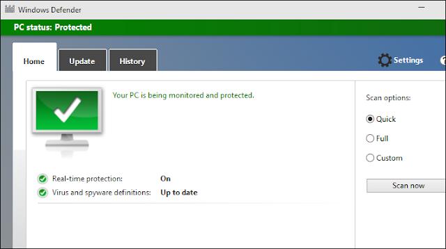 تحميل برنامج الحماية ويندوز ديفندر Windows Defender اخر إصدار