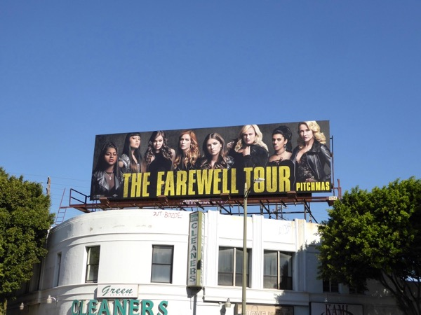 Pitch Perfect 3 film billboard