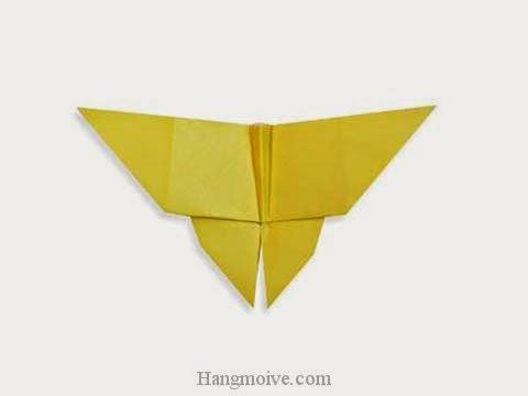Cách gấp, xếp con Bướm bằng giấy origami - Video hướng dẫn xếp hình côn trùng - How to fold a Butterfly