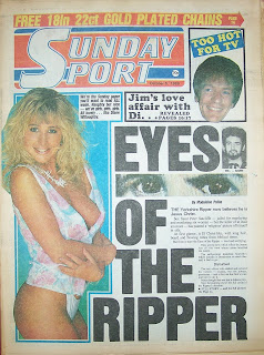 Sunday Sport newspaper front page 5th October 1986