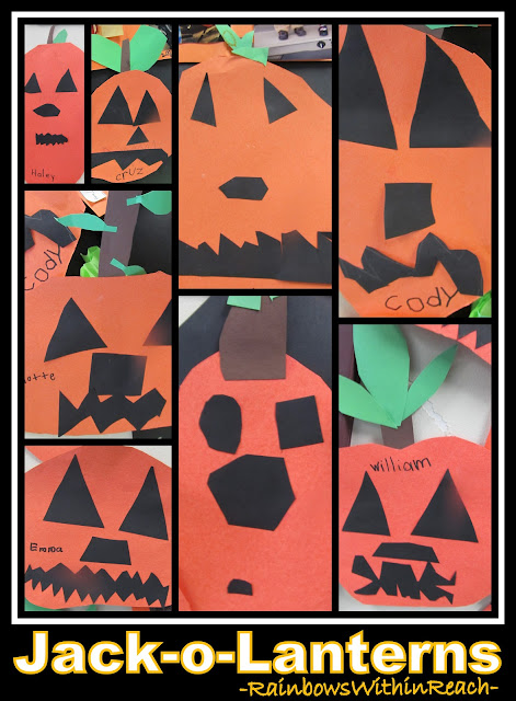 photo of: Children's Jack-o-Lantern Faces in Elementary via RainbowsWithinReach