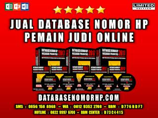 Jual Database Member Situs Judi Online