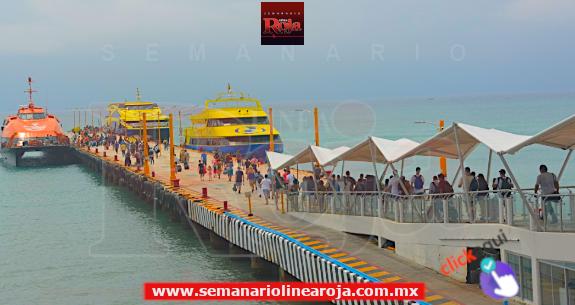 Incrementaría más del 50% el flujo de pasajeros en la ruta Playa del Carmen-Cozumel v.v, por vacaciones de Semana Santa