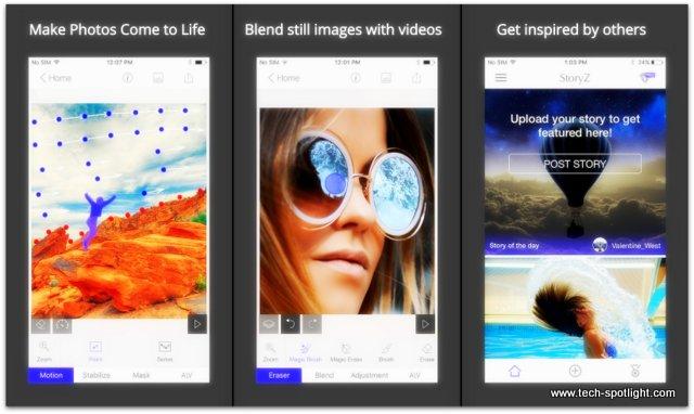 تحميل تطبيق StoryZ Photo motion لتحريك الصور الثابتة