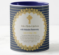 45th priest mug anniversary ordained sapphire gold