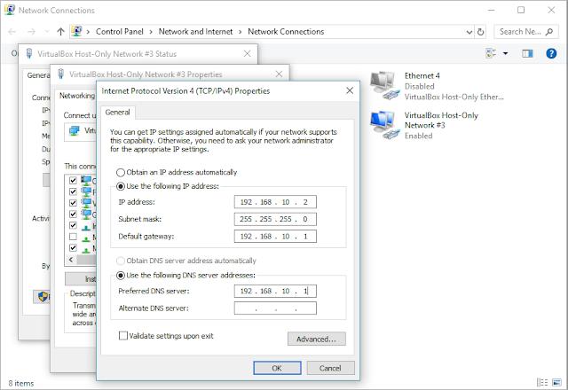 Mengganti IP address pada windows