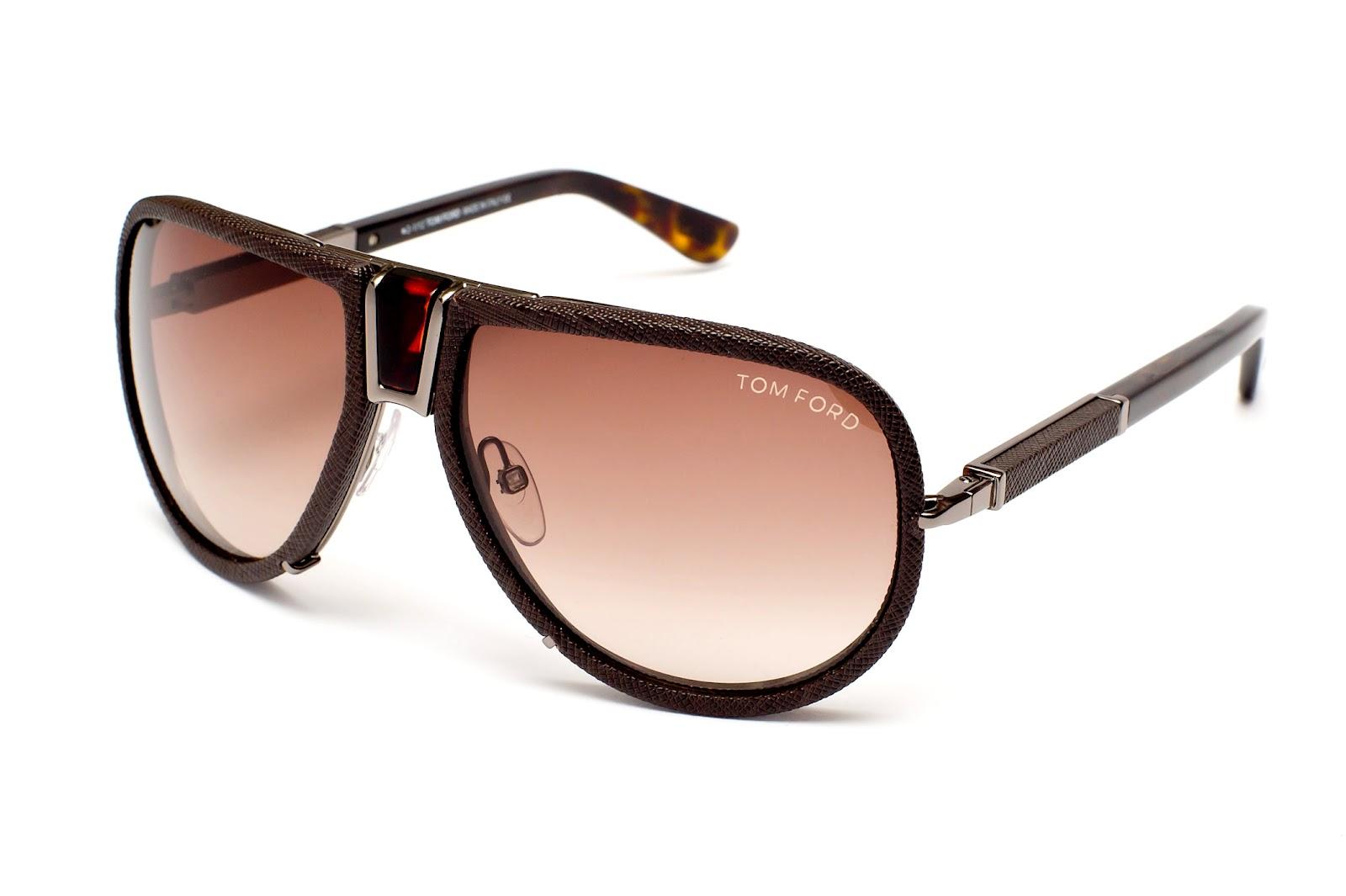 Óculos Solar Tom Ford Humphrey armacao em metal revestida em couro legitimo 1c145613c1