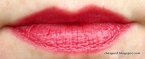 Urban Decay Vice Lipstick in Sheer F-Bomb layered over Revlon Balm Stain in Romantic
