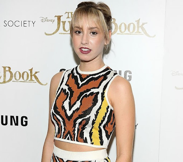 Jazmin Grace Grimaldi attends the screening of 'The Jungle Book' hosted by Disney with The Cinema Society and Samsung at AMC Empire, jewelery diamond rings earrings, style royals, royal fashions, newmyroyals, new myroyals