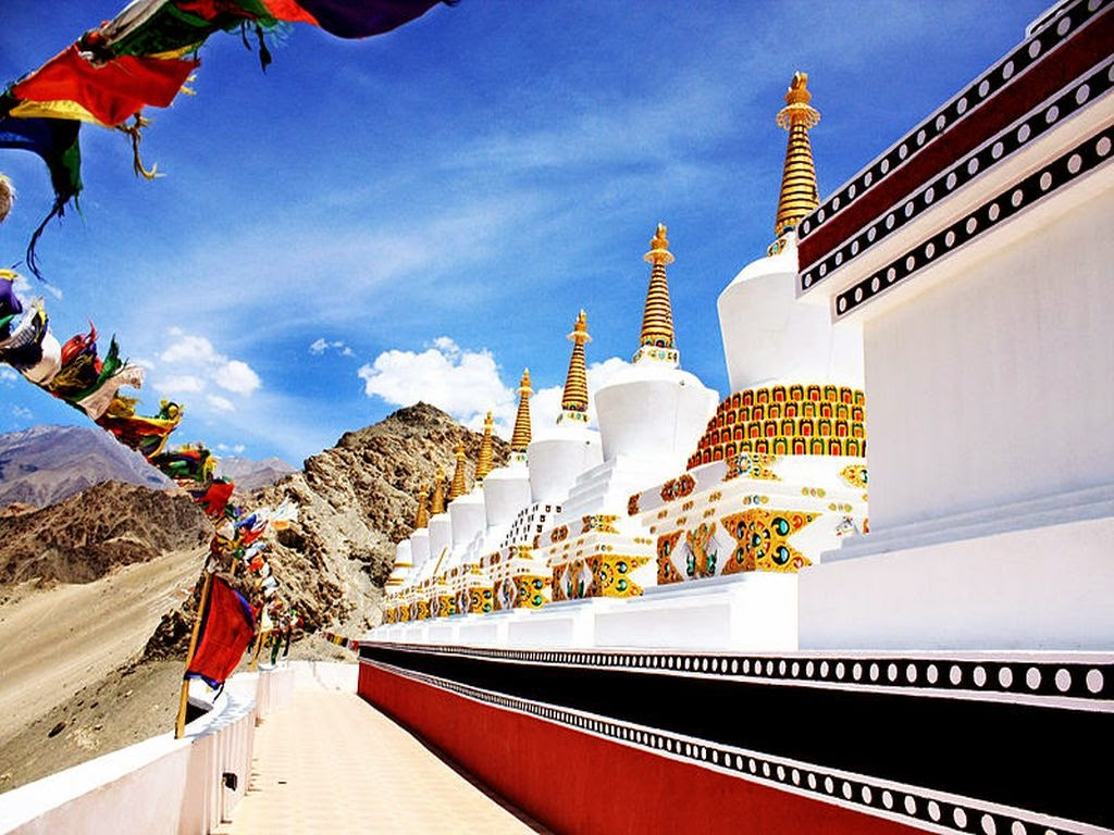 10 Best Backpacking Destinations in India | The 9 Stupas at Thiksey Monastery