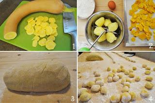 foto preparazione Ricetta gnocchi di zucca e patate con salsa di robiola e salvia per bambi