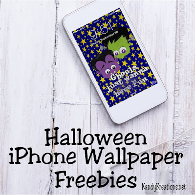 Decorate your iPhone this Halloween with these fun Wall paper freebies.  You'll find four different designs to keep your inner child alive and well this Halloween season.  Come grab yours today and get in on the holiday fun.