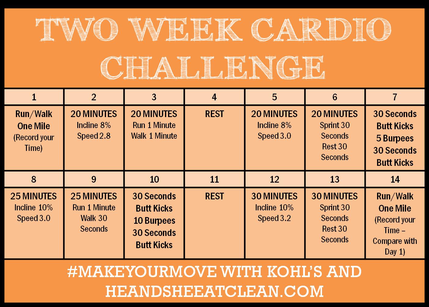 Two Week Cardio Challenge Giveaway