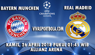 Prediksi Bola Bayern Munchen vs Real Madrid 26 April 2018