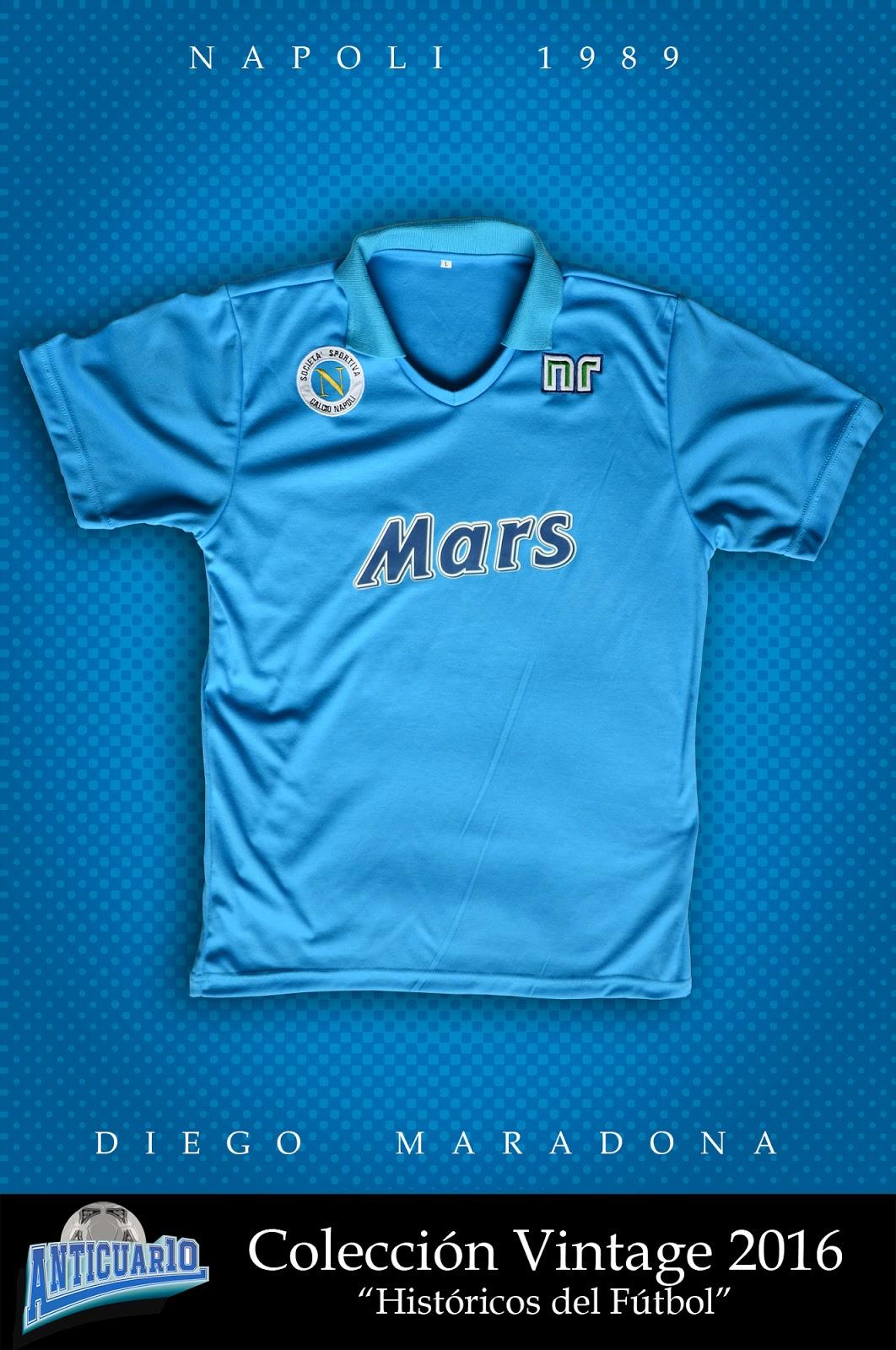 50ca05e0e6fab Anticuar10  Camiseta RETRO Diego Maradona - Napoli 1989 ( 70.000)