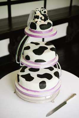 cow print wedding cake