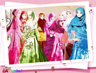 kartun persahabatan muslimah