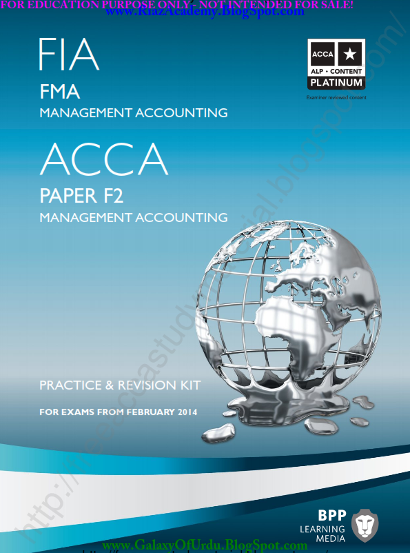 2014-ACCA-F2-PRACTICE AND REVISION KIT - MANAGEMENT ACCOUNTING