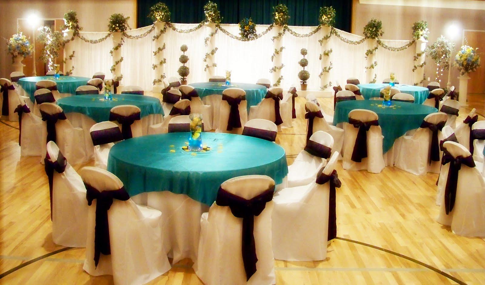 Chocolate And Teal Wedding Reception: Wedding Decoration: April 2014