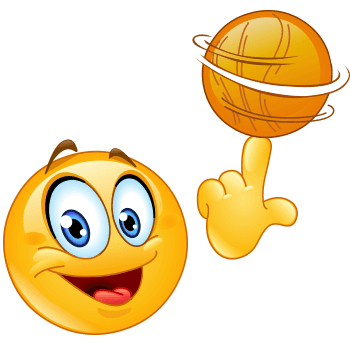Basketball emoji smiley