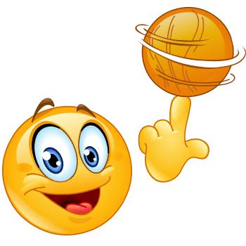 Basketball emoji smiley
