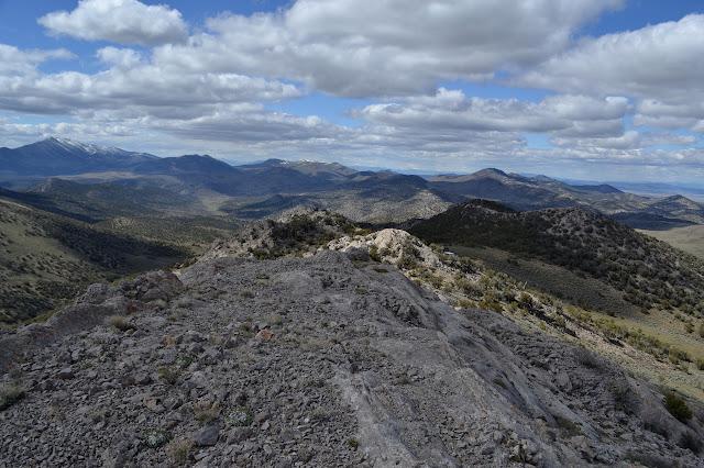 northerly along the ridge