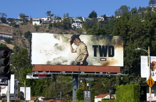 Walking Dead Rick Grimes final episode billboard