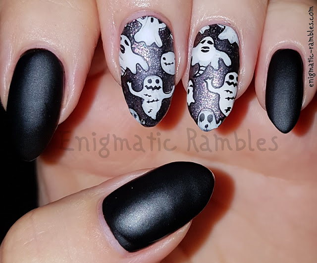 Halloween-Matte-Ghost-Stamped-Nails