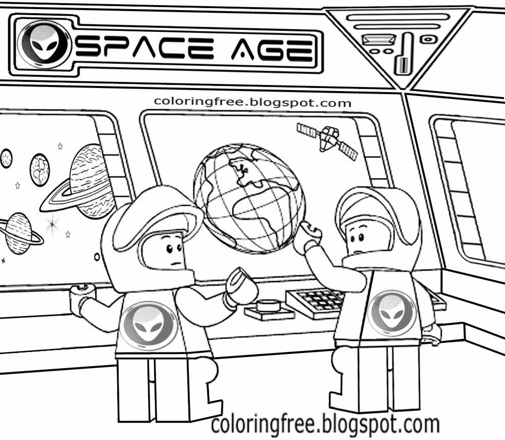 Space colouring pages, free spaceman colouring book pages | 870x1000