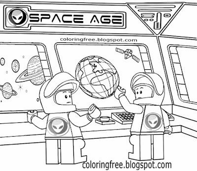 Spaceman easy solar system drawing space city Lego spaceship astronaut sketching ideas for teenagers