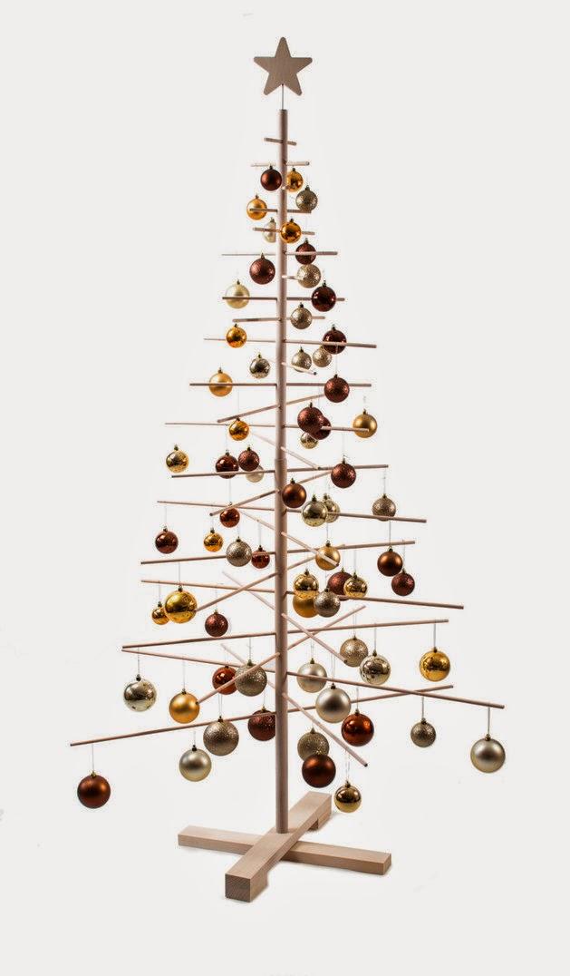 Rboles de navidad en madera colores en casa - Arbol de navidad hecho en casa ...