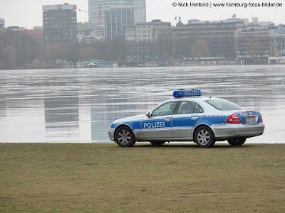 Alstereisvergnügen Hamburg, Polizei, Aussenalster