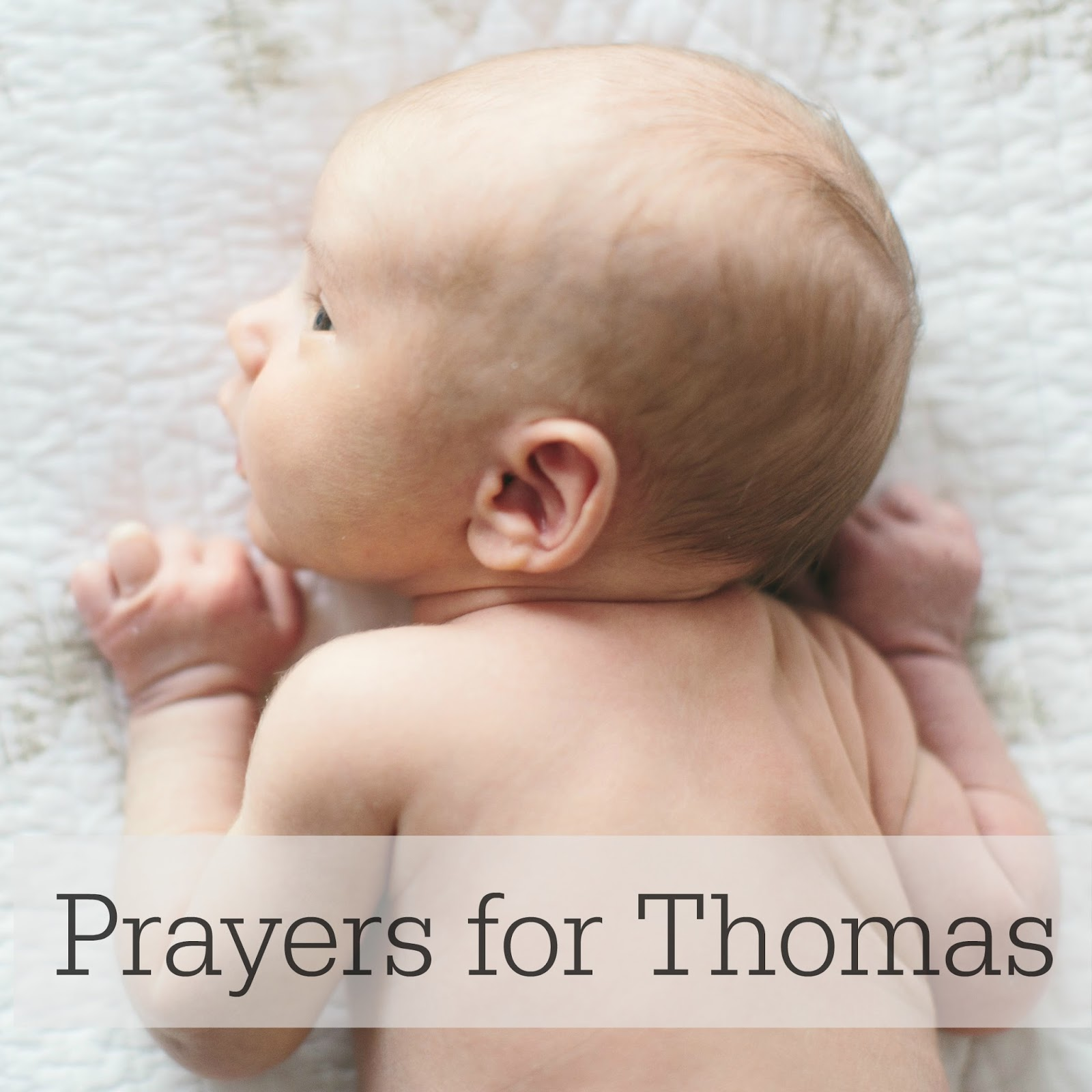 PRAYERS FOR THOMAS