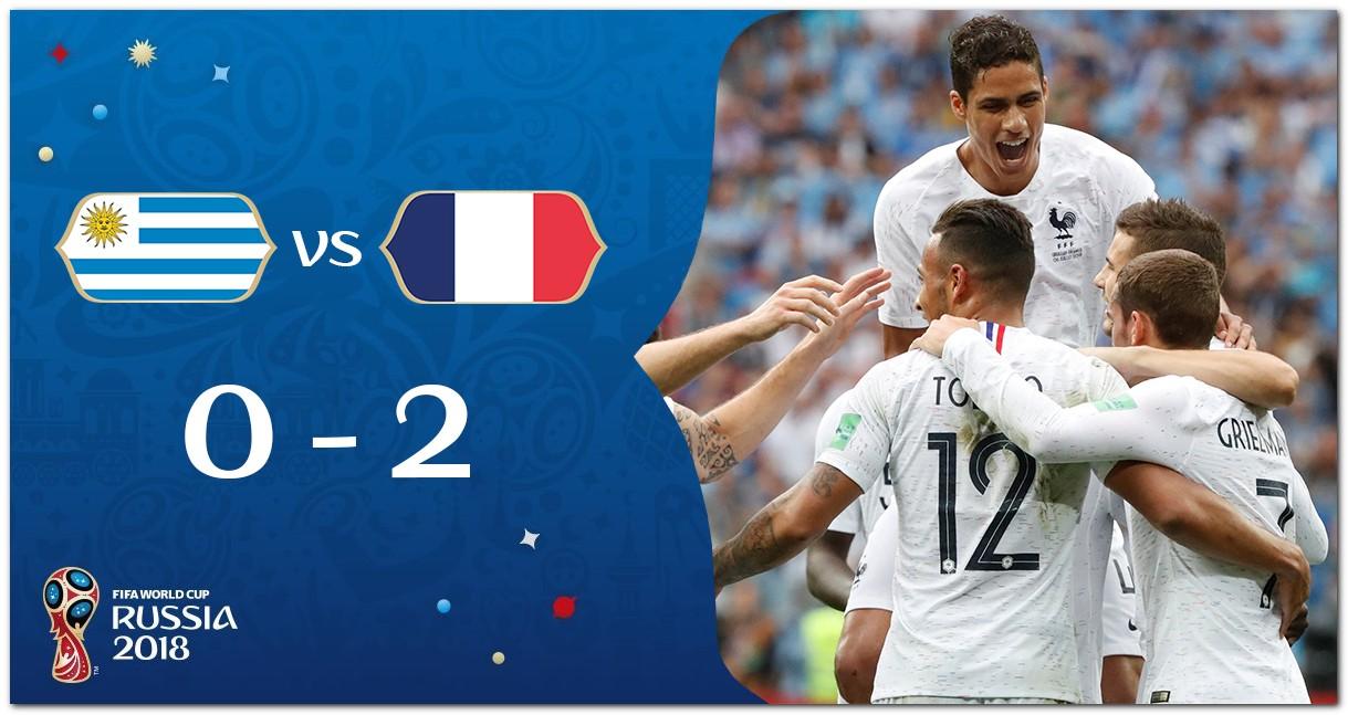 Cuplikan Gol Prancis vs Uruguay Piala Dunia 2018
