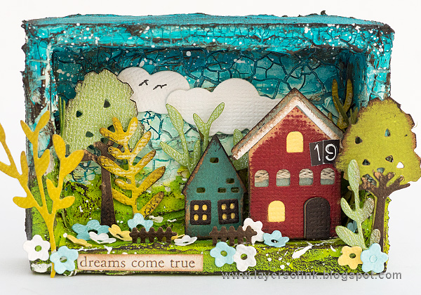 Layers of ink - Miniature Shadow Box by Anna-Karin Evaldsson.