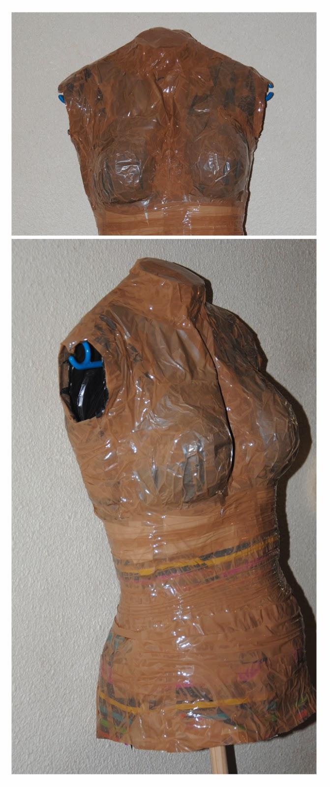 DIY mannequin sur mesure scotch Céline Sew