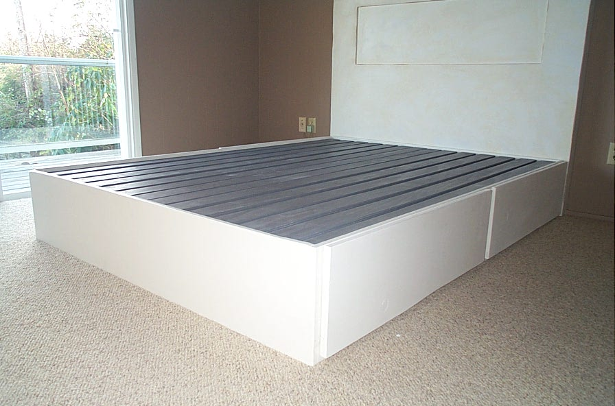 Three Fine Works: Platform Bed Frame With Drawers