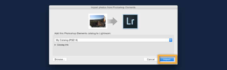 Photoshop Elements sang Lightroom