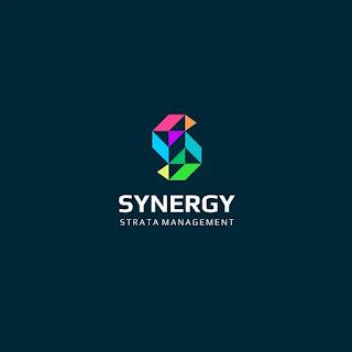 Desain logo geometris sinergi