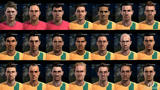 Facepack Australia National Team Pes 2013