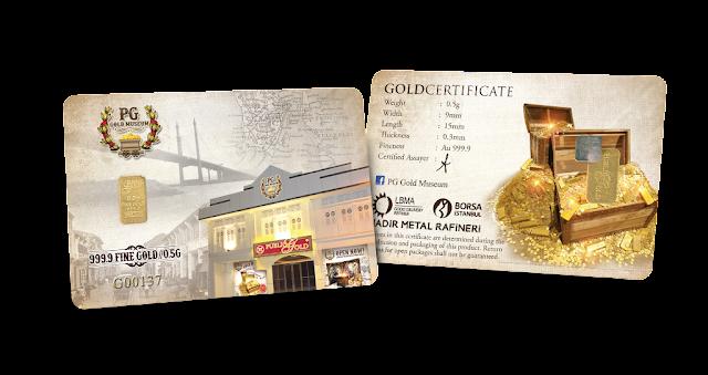 Gold Bar 0.5 g Edisi PG Gold Museum