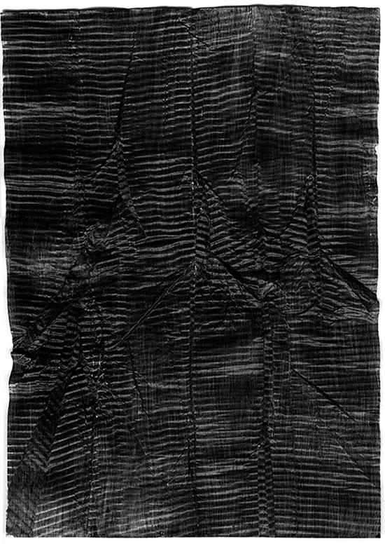 Stephan van den Burg Untitled, 2015 graphite paint on paper 21 x 29.7 cm